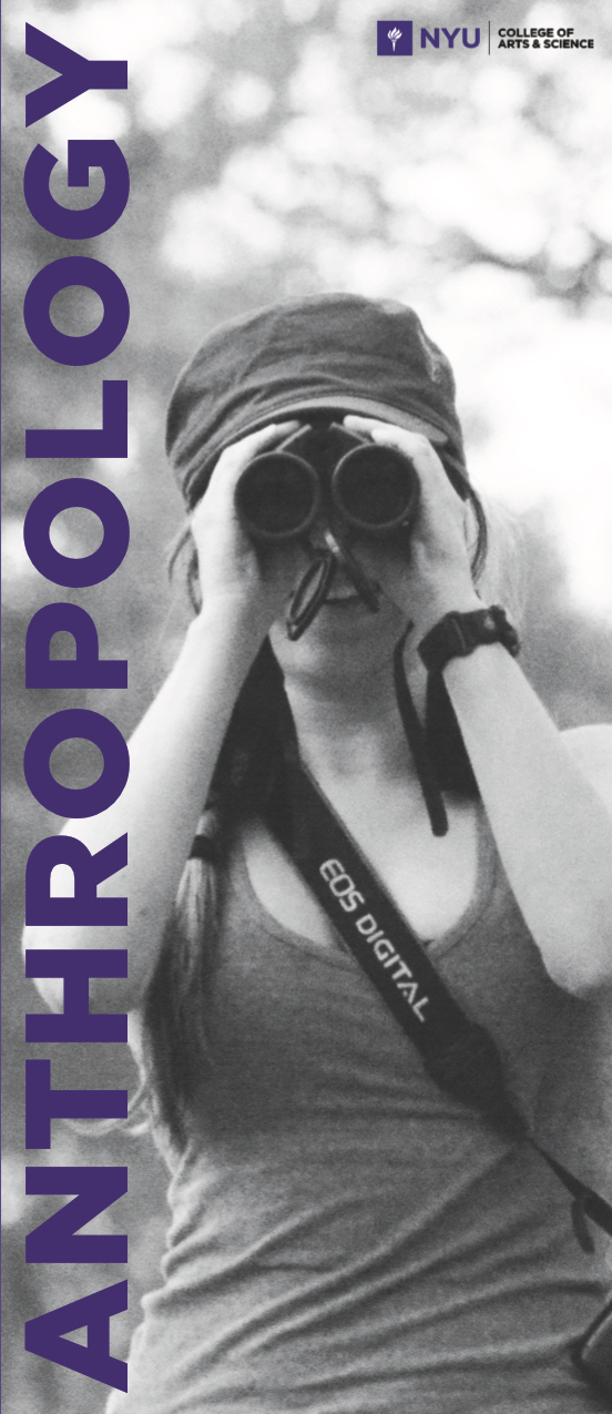 A brochure I created for the NYU College of Arts and Sciences, Undergraduate Anthropology Department. The brochure outlines different career opportunities for prospective students in the field of Anthropology.