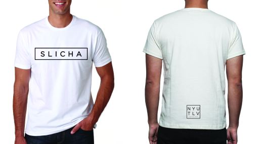 "I created this T-Shirt design for the Spring 2016 semester. All the students really resonated with the word ""SLICHA,"" which in Hebrew means ""Excuse Me."" Thus, I created an edgy and minimalistic design, drawing inspiration from Urban Outfitters or RAD Apparel, creating a shirt that everyone could wear in public even after leaving Tel Aviv."