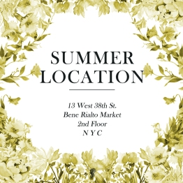 Summer Location Instagram Announcement